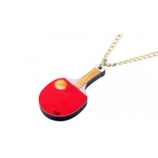 Necklace red racket