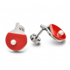 Earrings red racket