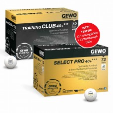 GEWO Ball-Set Training Club 40+ **+Select Pro 40+ ***72er