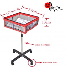 Table tennis multiball basket