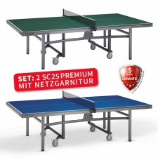 Set of 2 SC25 Premium Table incl. World Cup Net